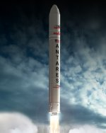 Antares launch illustration (Orbital Sciences Corp.)