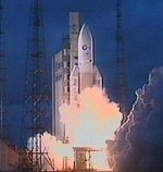 Ariane 5 liftoff on Flight 142