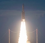 Ariane 5 launch of DIRECTV 15 and SKYM-1 (Arianespace)