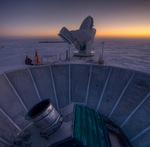 BICEP2 microwave telescope at South Pole (CfA)