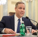 Bridenstine at confirmation hearing (NASA)