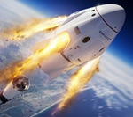 SpaceX Crew Dragon in-flight abort illustration (NASA)