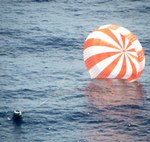 Dragon after CRS-1 splashdown (SpaceX)