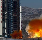 Long March 2D launch of SuperView 3 and 4 (Xinhua)