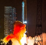Long March 3B launch of LaoSat-1 (Xinhua)