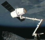 Dragon grappled by ISS on CRS-2 mission (NASA)