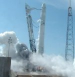 Falcon 9 hot fire test on 2012 Apr 30 (SpaceX)