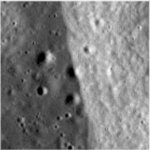 Lunar cliffs created by shrinkage (NASA)