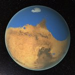 Mars ocean illustration (NASA/GSFC)