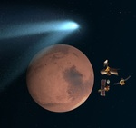 Mars comet flyby illustration (NASA)