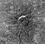 MESSENGER image of The Spider feature on Mercury (JHUAPL)
