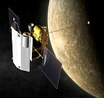 MESSENGER in orbit around Mercury (JHUAPL)