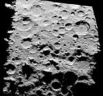 Radar image of lunar south pole (NASA/JPL)