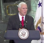 Vice President Mike Pence at KSC, July 2017 (NASA)