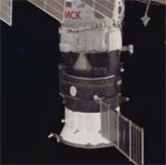 Poisk docks to ISS (NASA)