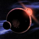 Earth-like world orbiting red dwarf illustration (CfA)