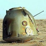 Shenzhou 3 descent capsule after landing (Peoples Daily)