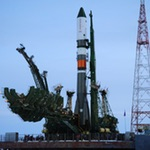 Soyuz rocket before Progress MS-08 launch (Roscosmos)