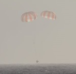 Dragon splashdown on SpX-5 mission (SpaceX)