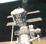 STS-105: Leonardo attached to ISS