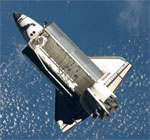 STS-129: shuttle after undocking (NASA)