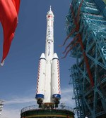 Long March 2F rolled out for Shenzhou-9 launch (Xinhua)
