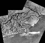 Huygens image of Titan river channels (ESA)